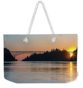 Deception Pass Bridge Sunset Sunstar Weekender Tote Bag