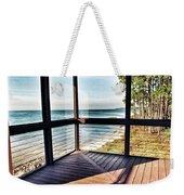 Deck With Ocean View Weekender Tote Bag