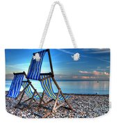 Deckchairs On The Shingle Weekender Tote Bag