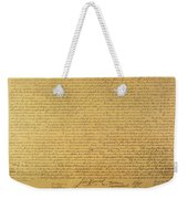 Declaration Of Independence Weekender Tote Bag by American School