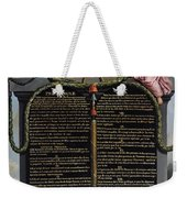 Declaration Of The Rights Of Man And Citizen Weekender Tote Bag