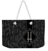 Deco Jazz Swing Monogram ...letter H Weekender Tote Bag