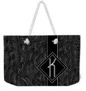 Deco Jazz Swing Monogram ...letter K Weekender Tote Bag