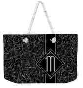 Deco Jazz Swing Monogram ...letter M Weekender Tote Bag
