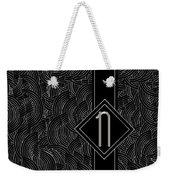 Deco Jazz Swing Monogram ...letter N Weekender Tote Bag