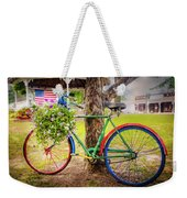 Decorated Bicycle In The Park Weekender Tote Bag