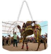 Decorated Camel Pushkar Weekender Tote Bag