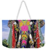 Decorated Indian Elephant Weekender Tote Bag