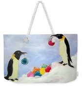 Christmas Penguins Weekender Tote Bag
