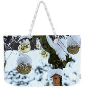 Decorations In The Snow Weekender Tote Bag