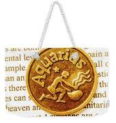 Decorative Aquarius Weekender Tote Bag