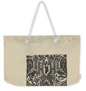 Decorative Design And Sketch Of The Front Tympanum Of The Royal Palace In Amsterdam, Carel Adolph Li Weekender Tote Bag