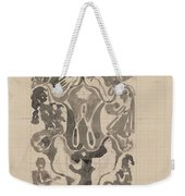 Decorative Design With Crowned W Surrounded By Persons, Carel Adolph Lion Cachet, 1874 - 1945 Weekender Tote Bag