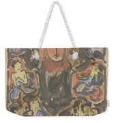 Decorative Design With Two Heralds At The Top, Carel Adolph Lion Cachet, 1874 - 1945 Weekender Tote Bag