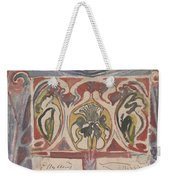 Decorative Design With Two Signatures, Carel Adolph Lion Cachet, 1874 - 1945 Weekender Tote Bag