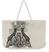Decorative Design With Two Standing Deer, Carel Adolph Lion Cachet, 1874 - 1945 Weekender Tote Bag