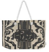 Decorative Design With Two Stylized Lions, Carel Adolph Lion Cachet, 1874 - 1945 Weekender Tote Bag