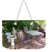 Decorative Furniture In A Garden 1 Weekender Tote Bag