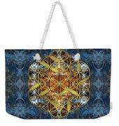 Decorative Gemstone Sacred Geometry Flower Of Life   Weekender Tote Bag