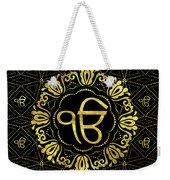 Decorative Gold Ek Onkar / Ik Onkar  Symbol Weekender Tote Bag