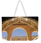 Decorative Moorish Architecture In The Nasrid Palaces At The Alhambra Granada Spain Weekender Tote Bag