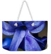 Deep Blue Flower Weekender Tote Bag