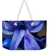 Deep Blue Flower Weekender Tote Bag