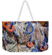 Deep Blue Net Weekender Tote Bag