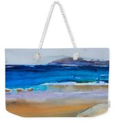 Deep Blue Sea And Golden Sand Weekender Tote Bag
