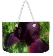 Deep Burgundy Iris Weekender Tote Bag