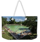 Deep Eddy Pool Is A Family Friendly, Family Fun, Public Swimming Pool In Austin, Texas Weekender Tote Bag