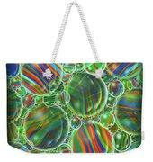 Deep Green Marbles Shower Curtain Weekender Tote Bag