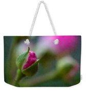 Deep Pink Rose Bud - Rose Bud Weekender Tote Bag