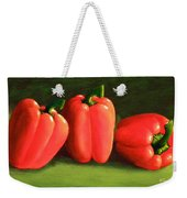 Deep Red Peppers Weekender Tote Bag