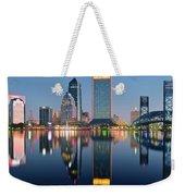 Deep Sea Blue Weekender Tote Bag