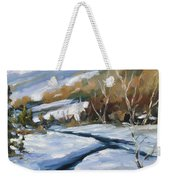 Deep Snow Weekender Tote Bag