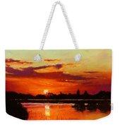 Deep Sunset Weekender Tote Bag