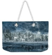 Deep Winter Weekender Tote Bag