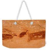 Deer And Bison Pictograph - Horseshoe Canyon - Utah Weekender Tote Bag