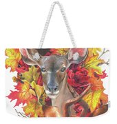 Deer And Fall Leaves Weekender Tote Bag