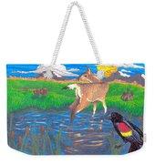 Deer Blessing Weekender Tote Bag