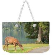 Deer By Crescent Lake Weekender Tote Bag
