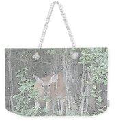 Deer By The Tree Line Weekender Tote Bag
