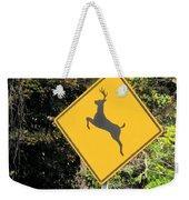 Deer Crossing Sign 2 Weekender Tote Bag
