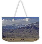 Deer Elk And Jim Mountain-signed Weekender Tote Bag