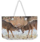 Deer Fight Weekender Tote Bag