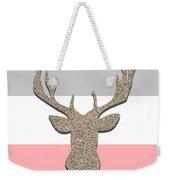 Deer Head Silhouette Weekender Tote Bag