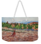 Deer In Fall Weekender Tote Bag
