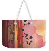 Deer In The Forest - Abstract And Colorful Mountains Weekender Tote Bag