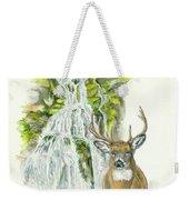 Deer In The Mist Weekender Tote Bag